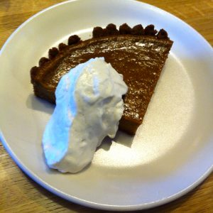 squash pie with whipped cream