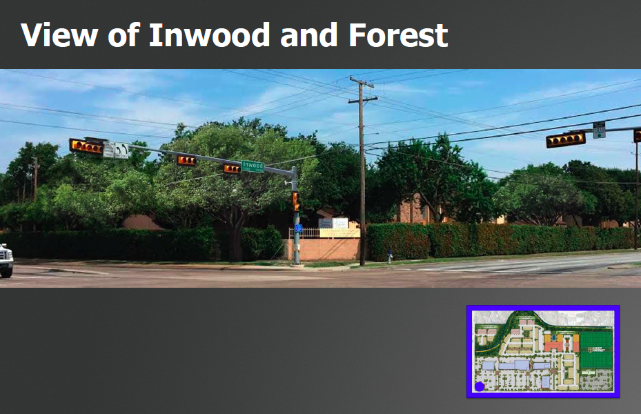 The northwest corner of Inwood and Forest as it appears today