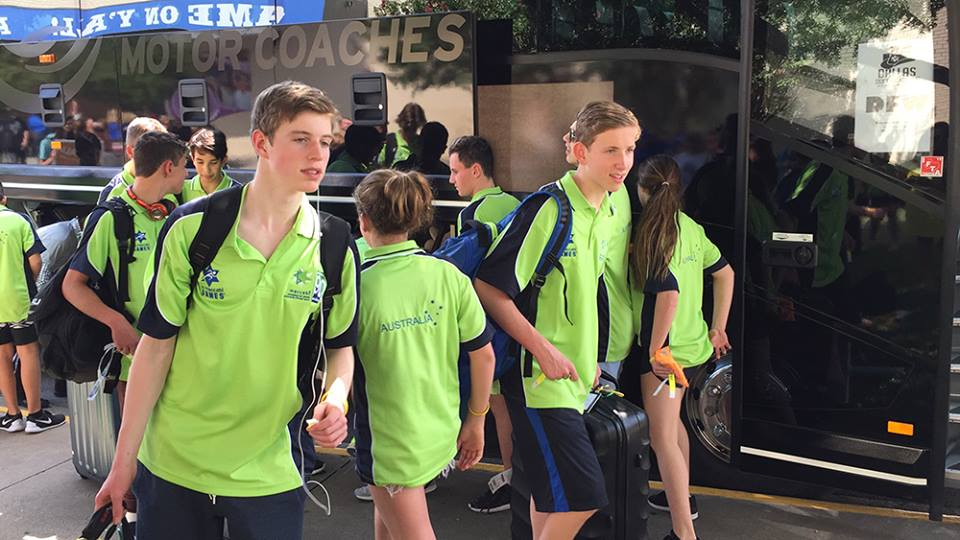 Young Jewish athletes arrive in our neighborhood for the 2015 Maccabi Games, via Facebook