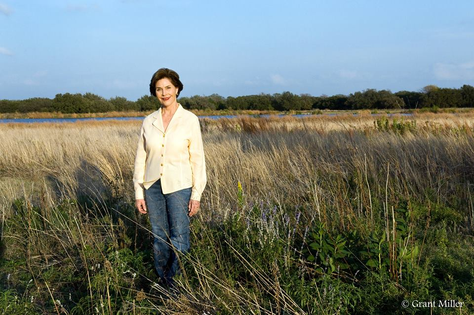 Former First Lady Laura Bush, via Texan by Nature — Facebook. Photo by Grant Miller