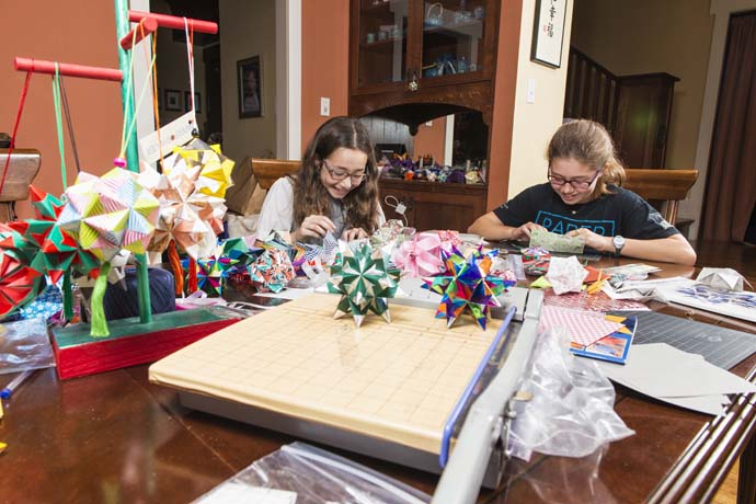 Isabelle, 12, and Katherine Adams, 9, are the founders of Paper For Water. (Photo by Danny Fulgencio)