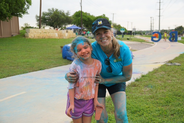 The annual Color Run on Northaven Trail (Courtesy o Friends of Northhaven Trail)