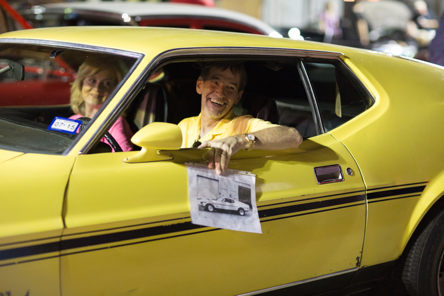 Jesse Brin, in his 1971 Ford Mach 1, was another Forest Lane cruiser in the 70s. Brin has owned the car since 1973 and still drives it today. Photo by Rasy Ran