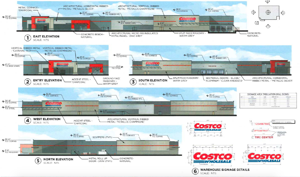 Renderings of Costco's proposed Dallas store at Central and Churchill