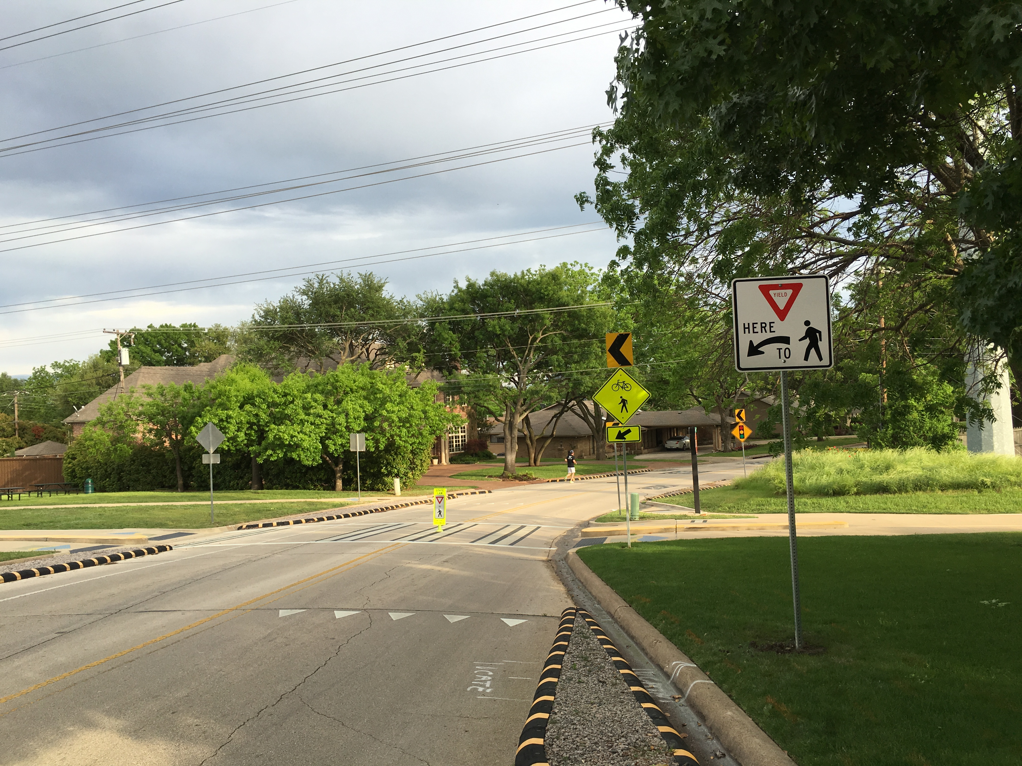 New yield signs and striping will help remind drivers on the Northaven Trail.