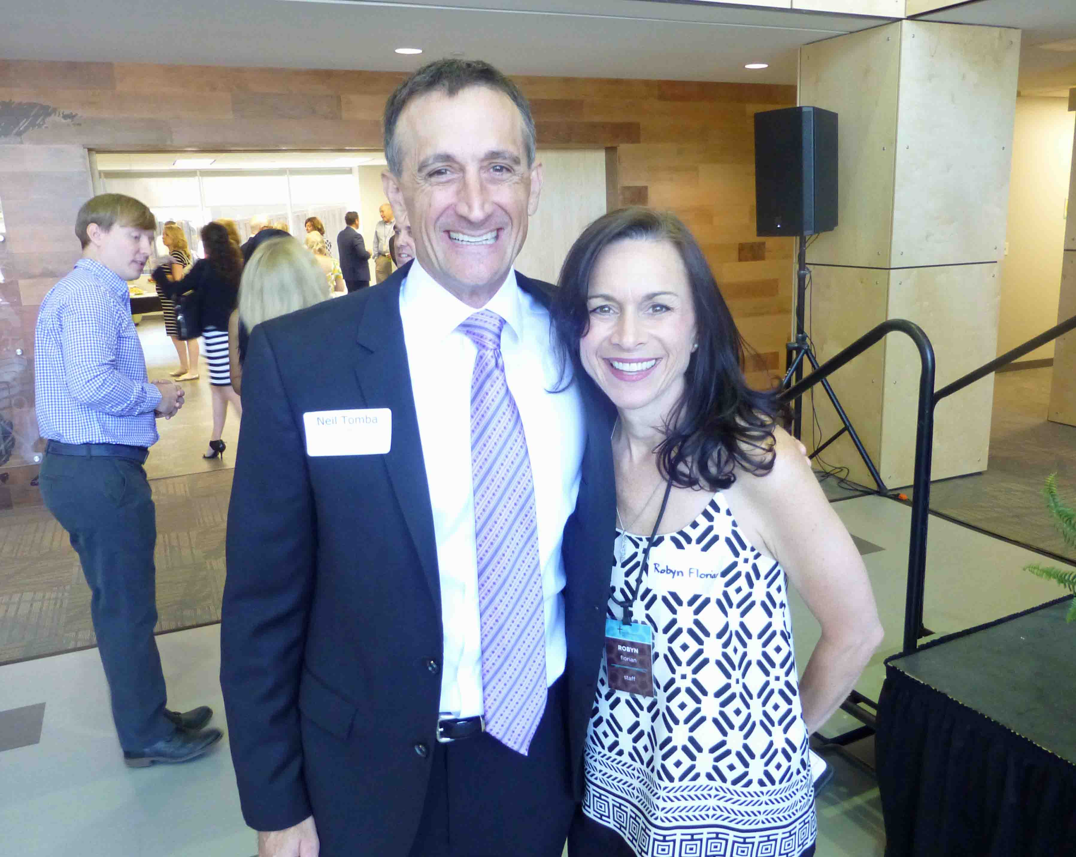 Pastor Neil Tomba and Robyn Florian of Northwest Bible Church
