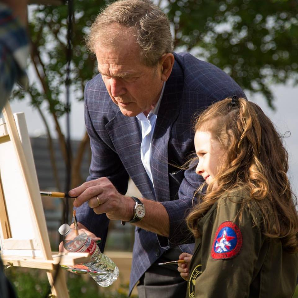 Painting has become George W. Bush's post-presidency passion. (Photo from Facebook)