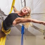Aerialist Stephanie Stewart (Photo by Danny Fulgencio)