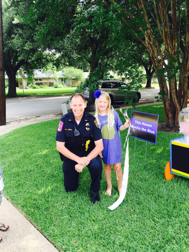 Hunter McWilliams, 6, sold lemonade and Back the Blue signs to raise $1,700 and counting for Dallas Police. (submitted photo)